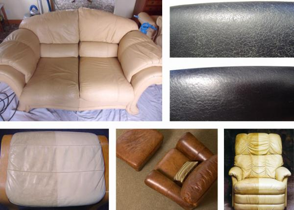 Leather Cleaning examples